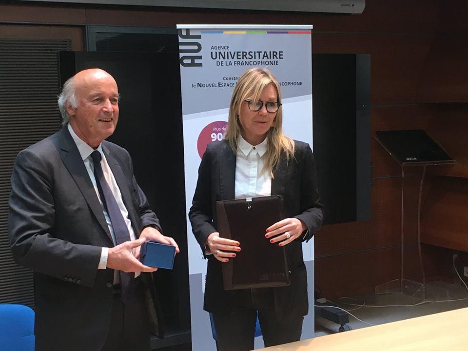 Signature partenariat Fondation CRF et AUF_11 avril 2019